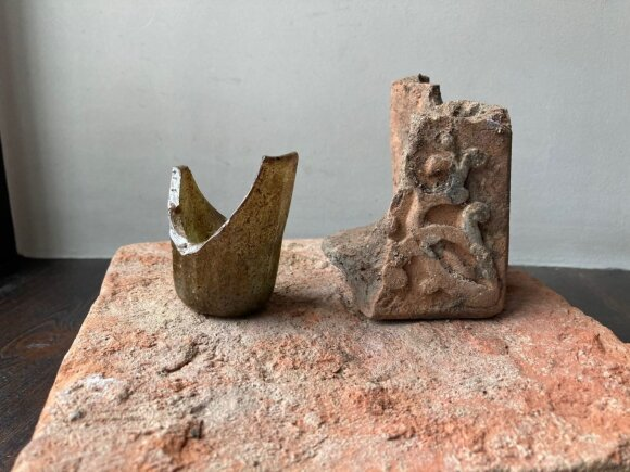 Šilainiuose sustojo vykdytos statybos: rasti seno mūro fragmentai