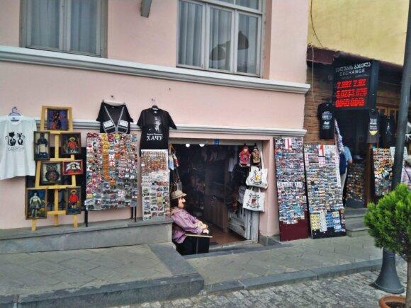 Suvenyrų parduotuvių Gruzijoje yra labai daug