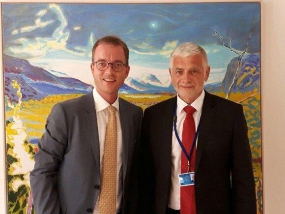Danijos aplinkos ir maisto ministru Esben Lunde Larsen susitiko su žemės ūkio ministru Broniumi Markausku