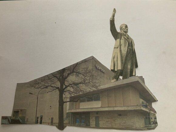 """Aistros dėl kino teatro """"Garsas"""" skambėjo garsiai: prie ministerijos susirinkę piketuotojai prašė išsaugoti pastatą"""