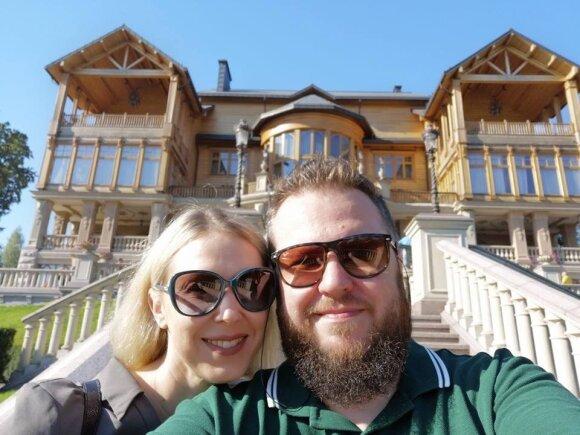 Laimonas Kirkutis su žmona