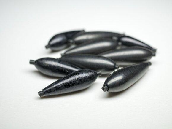 Skirtingo dydžio olivette tipo svareliai