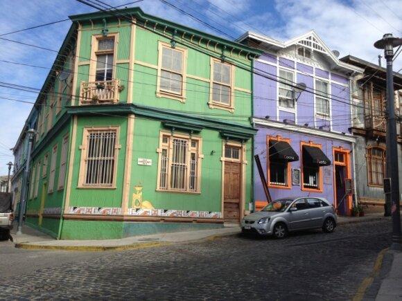 Čilės miestas, užburiantis spalvomis ir fantazija