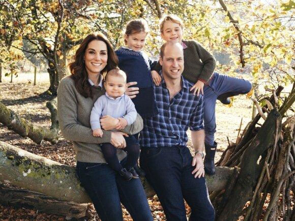 Kate Middleton ir Williamo kalėdinis atvirukas