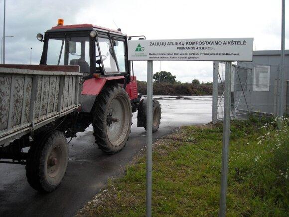 Veikia ir žaliųjų atliekų priėmimo aikštelės