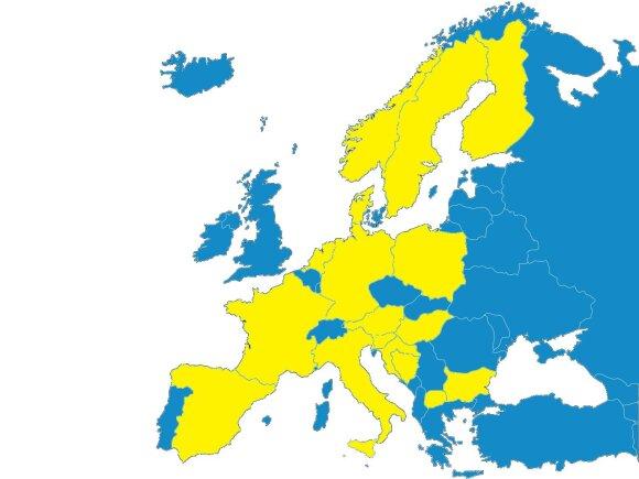 Įvairių formų valstybiniai bankai veikia 18-oje Europos valstybių