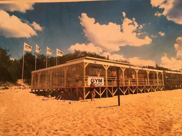 Štanginės Klaipėdos paplūdimyje vizualizacija