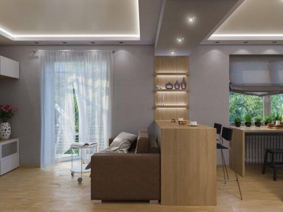 10 patarimų, kaip įsirengti mažą būstą