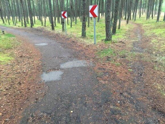 Apleisti dviračių takai Neringoje