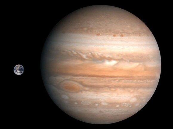 Žemės ir Jupiterio palyginimas   petapixel.com nuotr.
