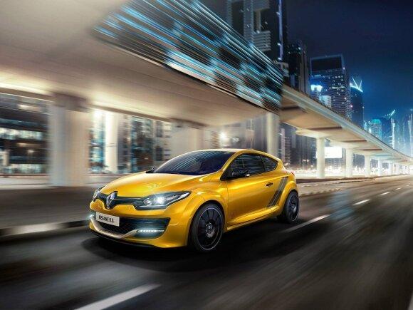 """Dabartinės kartos """"Renault Megane RS"""""""