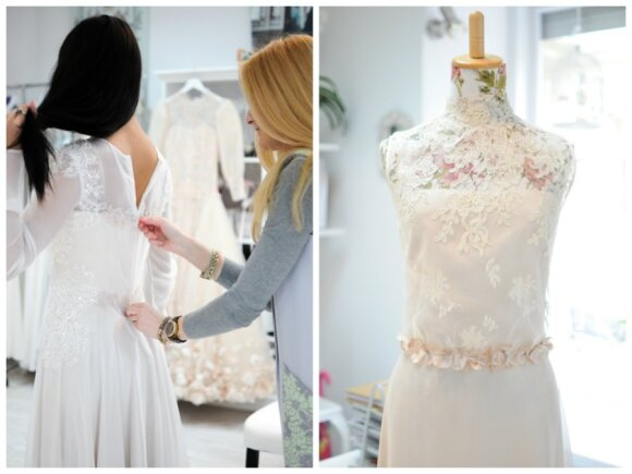 Tarptautinio grožio konkurso nugalėtoja laurus skynė su lietuvių dizainerės suknele