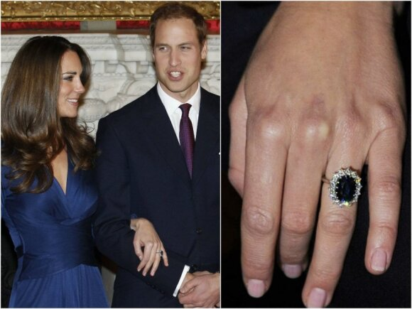 Kate Middleton sužadėtuvių žiedas