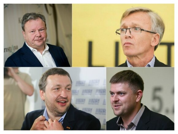 Benas Gudelis, Arvydas Avulis,  Antanas Guoga ir Ilja Laursas