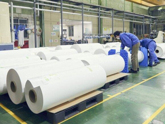 Taip akmens popierius atrodo gamykloje
