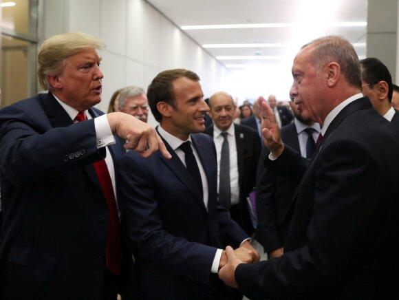 Donaldas Trumpas, Emmanuelis Macronas, Recepas Tayyipas Erdoganas