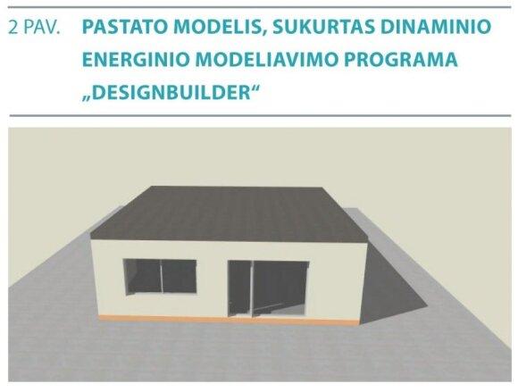 Pastato modelis, sukurtas dinaminio energinio modeliavimo programa.