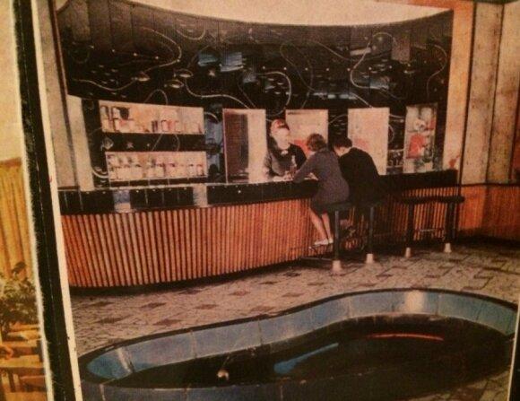 """""""Neringos"""" baras 1968 m., nuotr.  iš knygos """"Neringos""""  kavinė: sugrįžimas į legendą"""""""