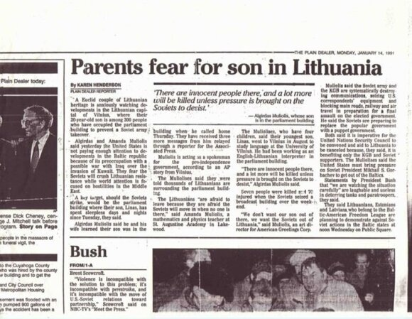 Cleveland Plain Dealer on January 14, 1991