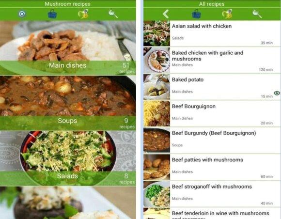 Mobiliosios aplikacijos, susijusios su grybavimu