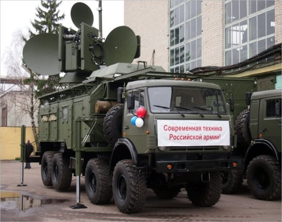 """Elektroninės kovos priemonė """"Krasucha-4"""""""