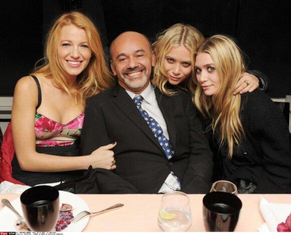 Blake Lively, Christian Louboutin, Mary-Kate ir Ashley Olsen