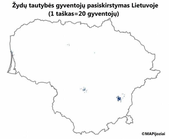 Żydzi na Litwie. Foto: mapijoziai.lt