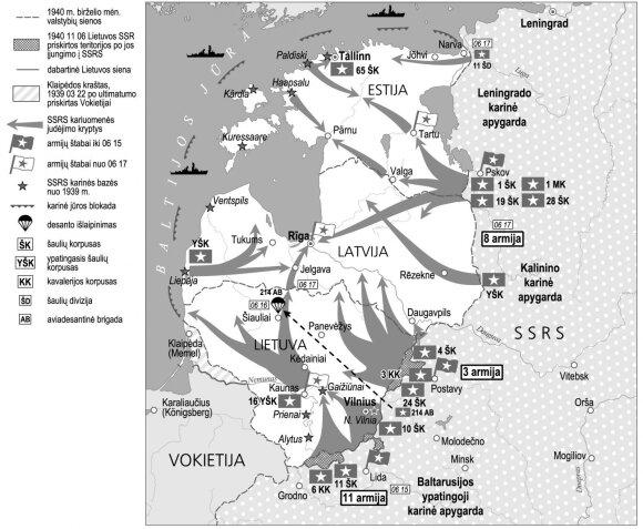 Baltijos šalių okupacija. 1940 m. birželio mėn.