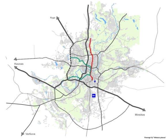 Tramvajaus linijos Vilniuje