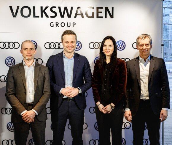 """Audi"" ir ""Volkswagen"" atstovai pristatė rezultatus"