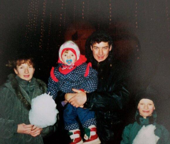 Beata ir Valdemaras su vaikais