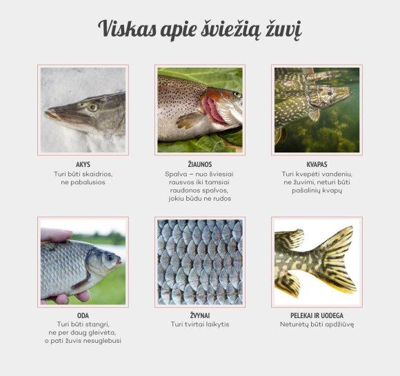 Kaip atskirti šviežią žuvį