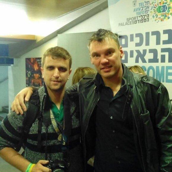 The Lithuania Tribune reporter and Šarūnas Jasikevičius