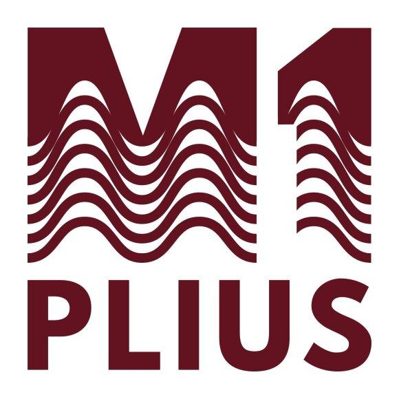 """Dvidešimtmečio proga – naujas radijo stoties """"M-1 Plius"""" logotipas."""
