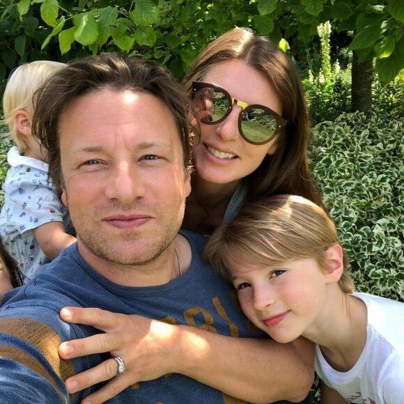 Jamie Oliver su šeima