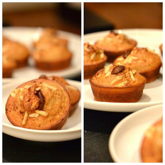 Skanūs ir sveiki keksiukai be miltų, cukraus ir kitų nuodėmių