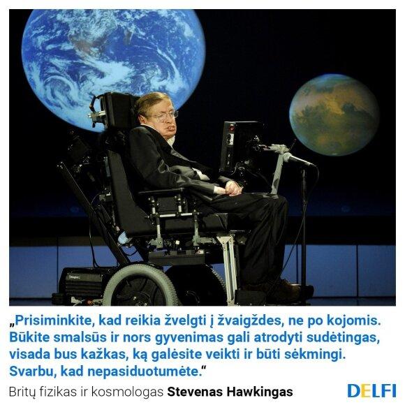 Mirė garsusis kosmologas Stephenas Hawkingas: medikams jis buvo neįmenamas stebuklas