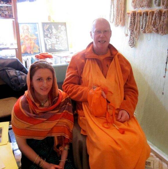 Asta Ivaškevičiūtė su dvasiniu mokytoju