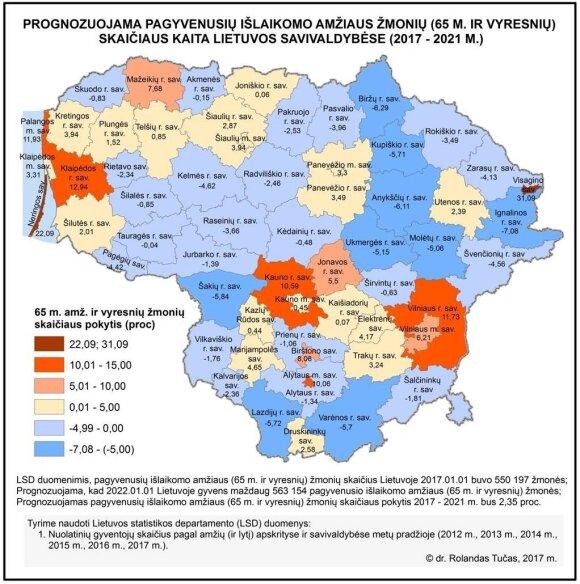 Nykstančios ir senstančios savivaldybės (R. Tučo nuotr.)