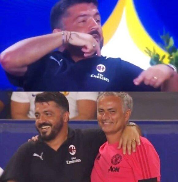 Jode Mourinho ir Gennaro Gattuso