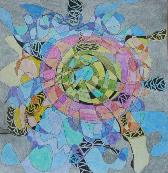 Fraktalų piešimas – magiškas kelias į save per spalvas ir formas