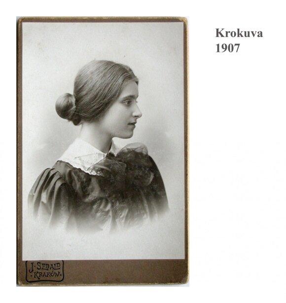 Sofija Kymantaitė Krokuvoje (1904)
