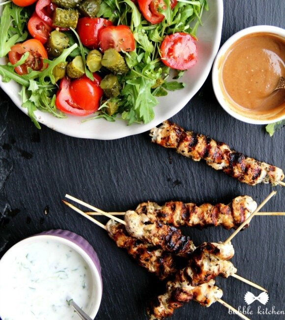 Graikiški vištienos vėrinukai
