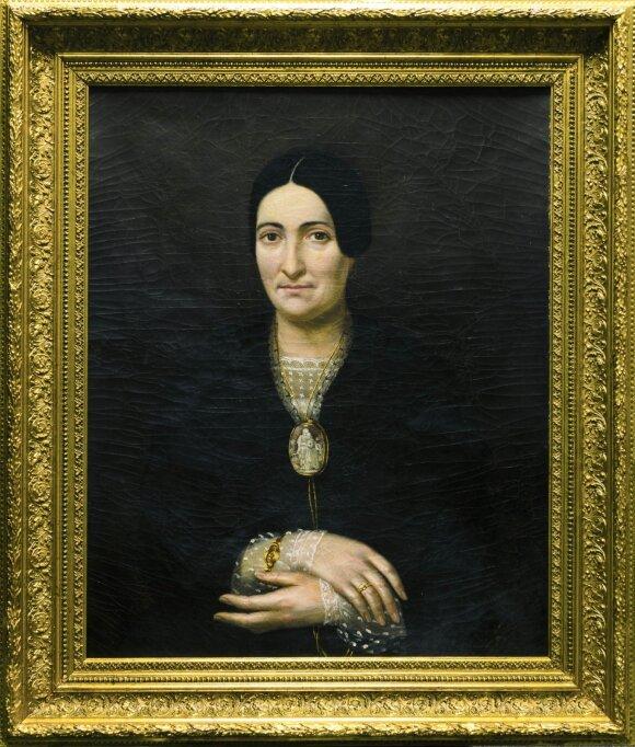 Napoleonas Mykolas Julius Ylakavičius. Nežinomos kilmingos moters portretas (XIX a. vid.)