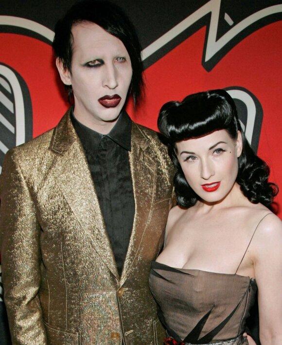 Marilyn Mansonas ir Dita Von Teese