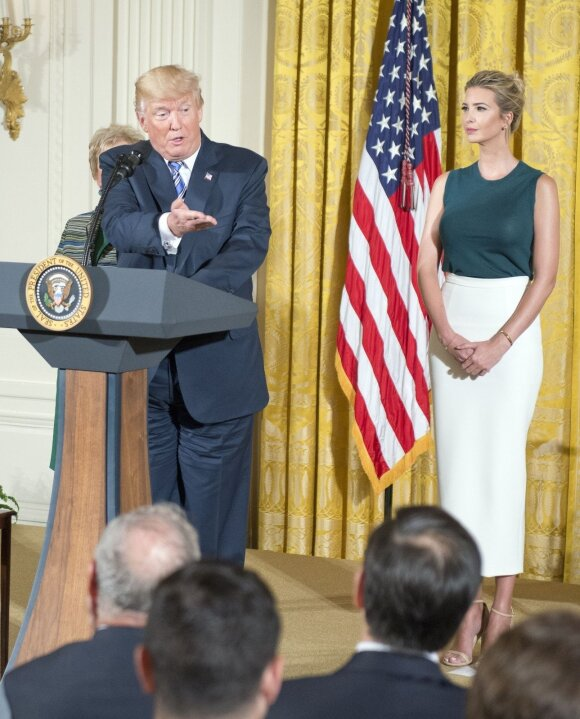 Ivanka Trump ir Donald'as Trump'as