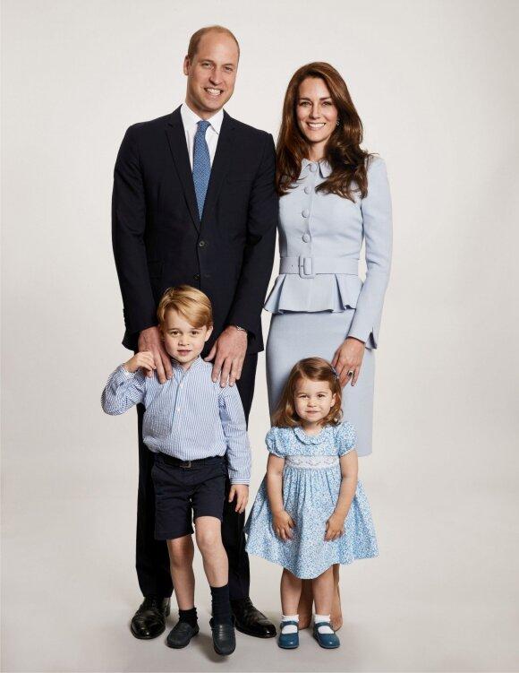 Princas Williamas ir Kate Middleton su vaikais