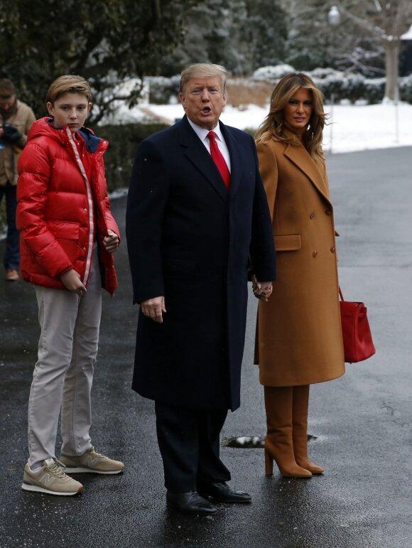 Barronas Trumpas, Donaldas Trumpas, Melania Trump