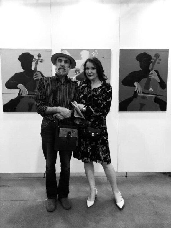 Menininkas Raimondas Gailiūnas ir Contour Art Gallery steigėja Vilma Mačianskaitė