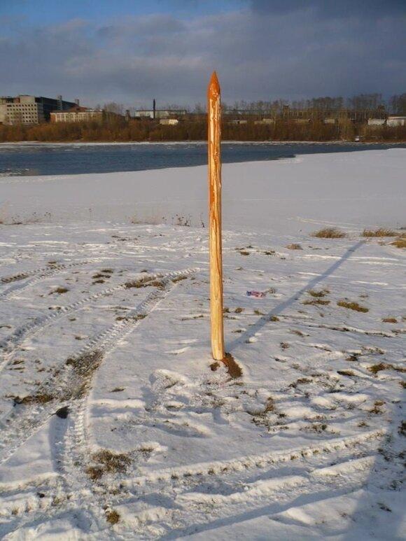Житель Красноярска поставил памятник Ивану Грозному в виде кола